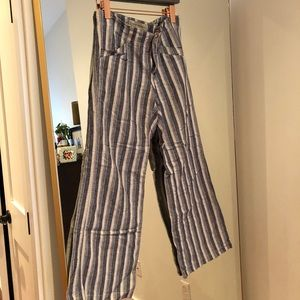 Pilcro (anthro) striped linen pants